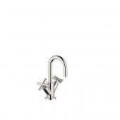 Dornbracht Tara - 2-Griff-Waschtischarmatur M-Size mit Zugstangen-Ablaufgarnitur platin
