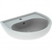 Geberit Renova Nr. 1 - Waschtisch mit Hahnloch 600 x 490 mm mit Überlauf