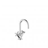 Dornbracht Tara - 2-Griff-Waschtischarmatur L-Size mit Zugstangen-Ablaufgarnitur chrom