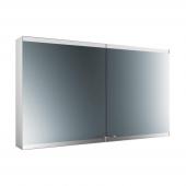 Emco Asis Evo - LED-Lichtspiegelschrank Aufputz 1200 mm 2-türig