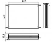 Emco Asis Prestige - Einbaurahmen für Lichtspiegelschrank 810 x 660 mm