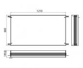 Emco Asis Prestige - Einbaurahmen für Lichtspiegelschrank 1210 x 660 mm