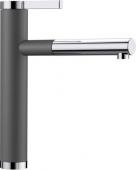Blanco Linee-S - Küchenarmatur Silgranit-Look zweifarbig Hochdruck felsgrau/chrom
