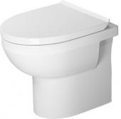 Duravit DuraStyle Basic - Stand-Tiefspül-WC Set inklusive WC-Sitz mit Absenkautomatik weiß Toilette