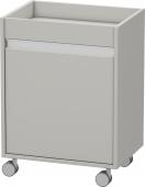 Duravit Ketho - Rollcontainer 360x500x670mm 1 Tür Türanschlag rechts betongrau matt