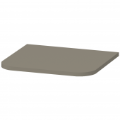 Duravit Happy D.2 Plus - Abdeckplatte 16x403x364mm steingrau seidenmatt