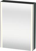 Duravit XSquare - SPS mit Beleuchtung 800x600x155 dolomiti grey Türanschlag links