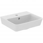 Ideal Standard Connect Air - Handwaschbecken 1 Hahnloch mit Überlauf 400 x 350 x 150 mm weiß