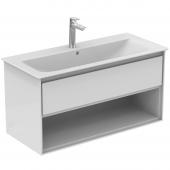 Ideal Standard Connect Air - Waschtisch-Unterschrank 1000 x 440 x 517 mm weiß glänzend / matt