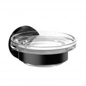 Emco Round - Seifenhalter Glasteil satiniert schwarz