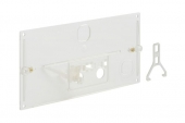 Geberit - Schutzplatte mit Bügel und Hebelmechanik transparent