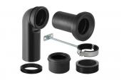Geberit Monolith - Anschlussgarnitur für Stand-WC 90 Grad schwarz