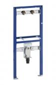 Geberit Duofix - Montageelement für Waschtisch 1300 mm mit Aufputz-Armatur