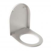 Geberit iCon - WC-Sitz mit Deckel und soft-close weiß Scharniere verchromt