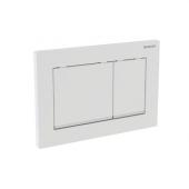 Geberit Omega30 - Betätigungsplatte für 2-Mengen-Spülung weiß / chrom hochglanz