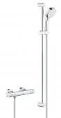 Grohe Grohtherm 800 Cosmopolitan - Thermostat-Brausebatterie mit Brausegarnitur 900mm chrom