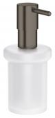 Grohe Essentials - Seifenspender für Halter / -Cube hard graphite gebürstet