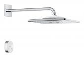 Grohe Rainshower SmartConnect 310 Cube - Kopfbrause 2 Strahlarten mit Duscharm eckig