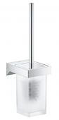 Grohe Selection Cube - WC-Bürstengarnitur Glas / Metall Wandmontage chrom