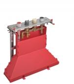 Hansgrohe Axor - Grundkörper 4-Loch Wannenarmatur mit Thermostat für Fliesenrand mit Secuflexbox