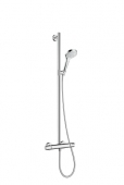 Hansgrohe Croma Select S - Showerpipe Multi SemiPipe weiß / chrom