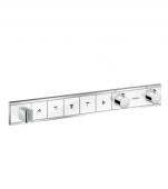 Hansgrohe RainSelect - Thermostat Unterputz Fertigset 5 Verbraucher weiß / chrom