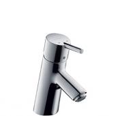 hansgrohe Talis S - Einhebel-Waschtischarmatur 70 für offene Warmwasserbereiter mit Zugstangen-Ablaufgarnitur chrom