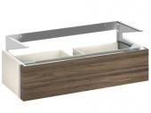 Keuco Edition 300 - Waschtischunterbau 2 Frontauszüge weiß hochglanz / sahara