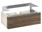Keuco Edition 300 - Waschtischunterbau 2 Frontauszüge weiß hochglanz / weiß