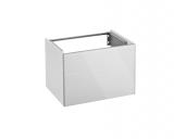 Keuco Royal Reflex - Waschtischunterschrank mit 1 Auszug Front Glas weiß / Korpus weiß glanz