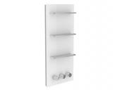 Keuco meTime_spa - Thermostatbatterie für 3 Verbraucher Griffe rechts Glas anthrazit