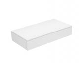 Keuco Edition 400 - Sideboard 1 Auszug weiß / Glas weiß satiniert
