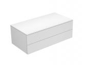 Keuco Edition 400 - Sideboard 2 Auszüge weiß hochglanz / weiß hochglanz