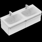 Ideal Standard Tonic II - Waschtischunterschrank 2 Auszüge 1200 x 440 x 350 mm hochglanz weiß