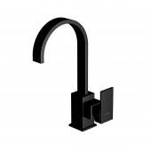 Steinberg Series 135 - Waschtisch-Einhebelmischbatterie mit Ablaufgarnitur matt black