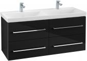 Villeroy & Boch Avento - Waschtischunterschrank 1180 x 514 x 452 mm crystal black