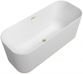 Villeroy & Boch Finion - Badewanne Ventil ÜL Design-Ring Emotion-Funktion champagne white alpin