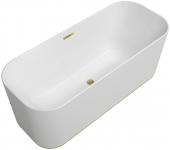 Villeroy & Boch Finion - Badewanne CoD Ventil Überlauf Wasserzulauf DesignRing gold white alpin