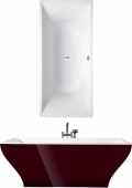 Villeroy & Boch La Belle - Badewanne 1800 x 800 mm freistehend Quaryl weiß alpin BiColor