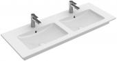 Villeroy & Boch Venticello - Schrank-Doppelwaschtisch 1300 x 500 mm stone white mit CeramicPlus