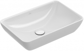 Villeroy & Boch Venticello - Halbeinbau-Aufsatzwaschtisch 550 x 360 mm  stone white mit CeramicPlus