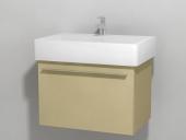 Duravit X-Large - Waschtischunterbau wandhängend Cappuccino Hochglanz Lack 650 mm
