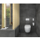Villeroy & Boch ViClean - Dusch-WC Set ohne Spülrand weiß mit CeramicPlus Milieu 7