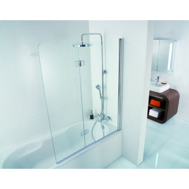 HSK - Bath screen 2-part, 41 chrome-look 1140 x 1400 56 Carré