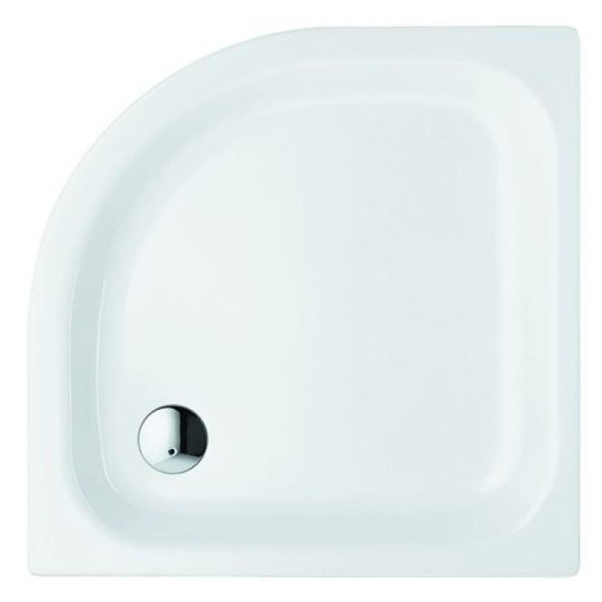 Bette BetteCorner ohne Schürze - Quarter-circle shower tray Anti-slip star white - 80 x 80