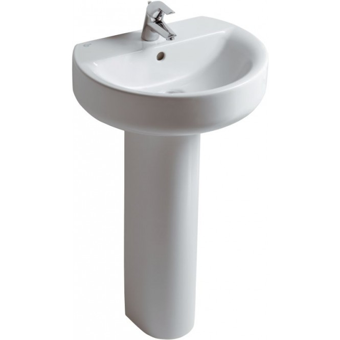 Ideal Standard Connect - Washbasin 550x455 white with IdealPlus