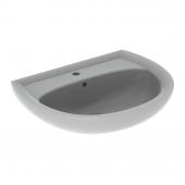 Geberit Renova Nr. 1 - Waschtisch 650 x 510 mm mit Hahnloch mit Überlauf manhattan