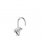 Dornbracht Tara - 2-handle basin mixer L-Size with pop-up waste set chrome