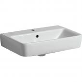 Geberit Renova Nr. 1 Comprimo - Waschtisch 600 x 370 mm mit Hahnloch mit Überlauf weiß