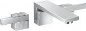 Axor Edge - 3-Loch Waschtischarmatur F-Set Wandmontage Diamantschliff chrom